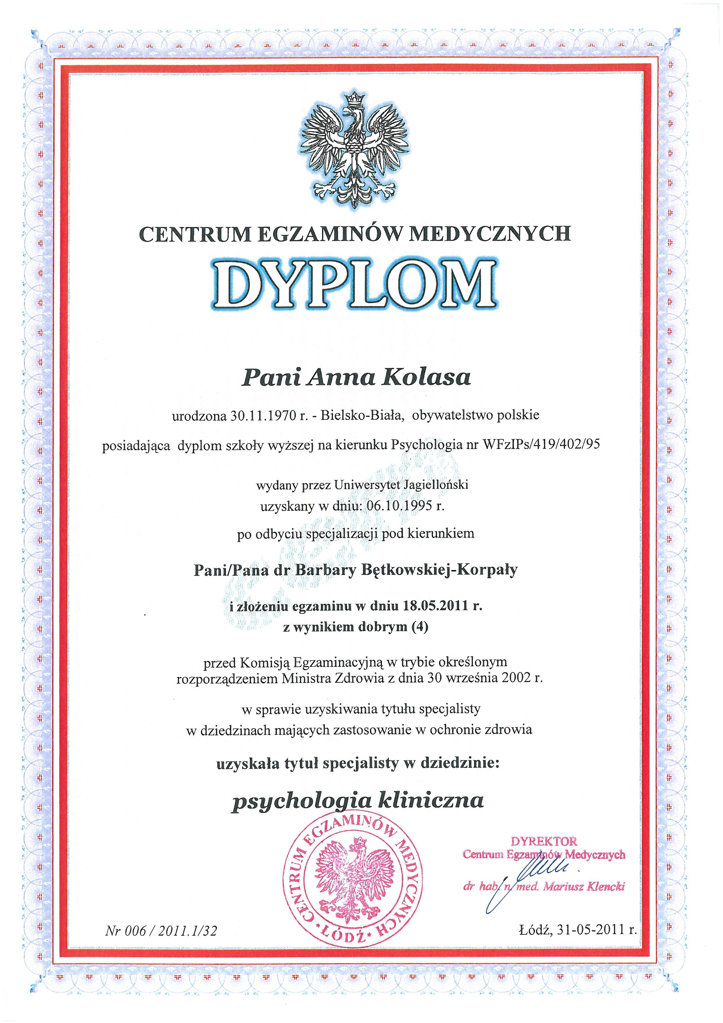 Psychologia kliniczna #1